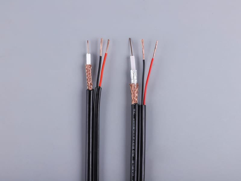 Personlized Products Rg59 Caoxial Cable And 2 Power Siamese Cable For Video -